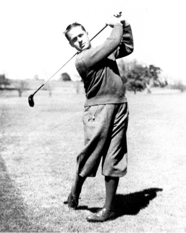 Bobby Jones in backswing.