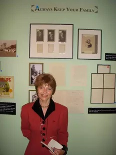 Dr. Harriet Fields in exhibit