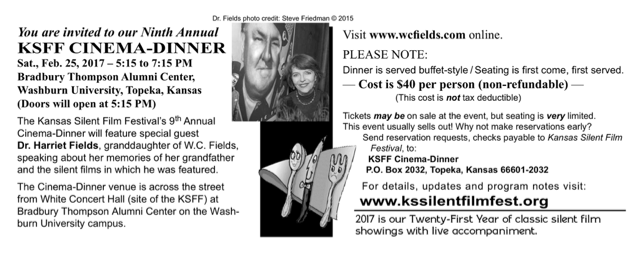 21st Annual KSFF flyer verso side.
