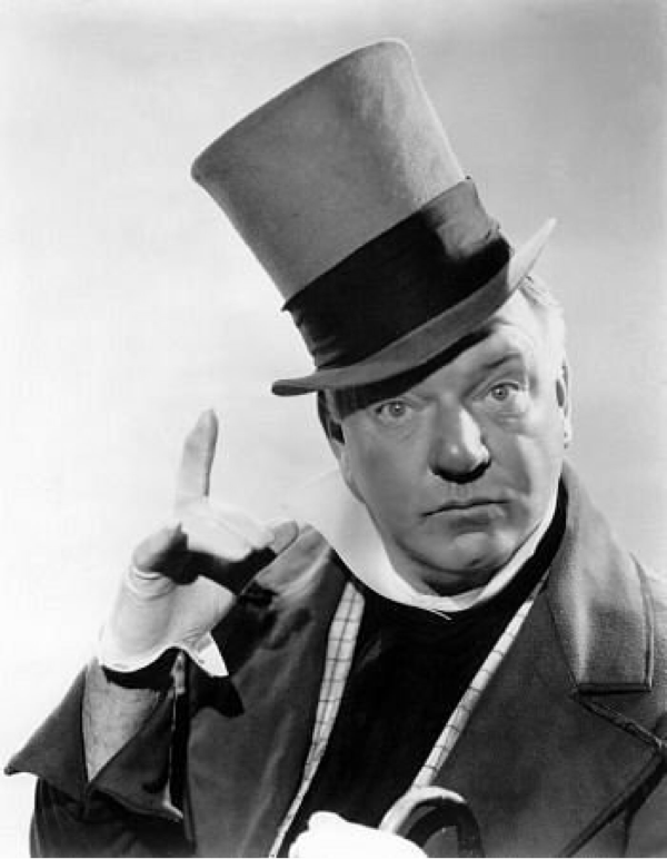 W.C. Fields in top hat.