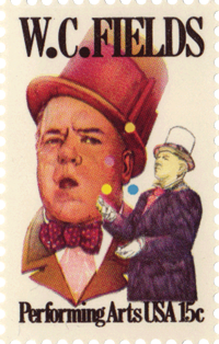 W.C. Fields' Commemorative United States Postage Stamp.