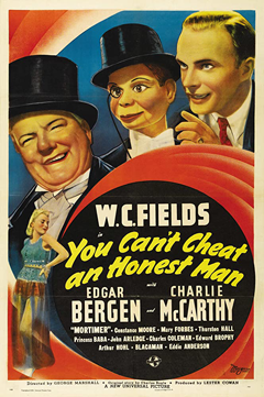 Movie poster showing W.C. Fields with Bergen & McCarthy.