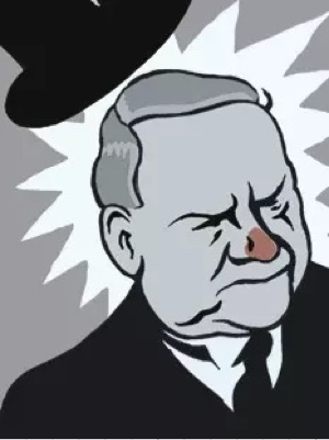 Illustration of W.C. Fields from The New Yorker